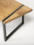 Oak coffee table with built-in angled leg
