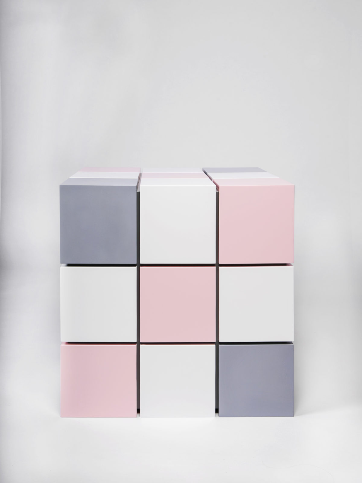 Lacquered Rubik's cube