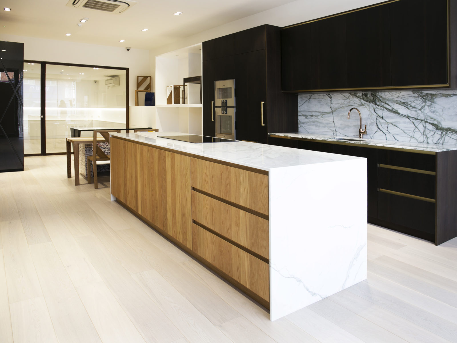 St James Interiors showroom kitchen