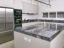 Lacquered pantry kitchen with Savana grey marble worktop