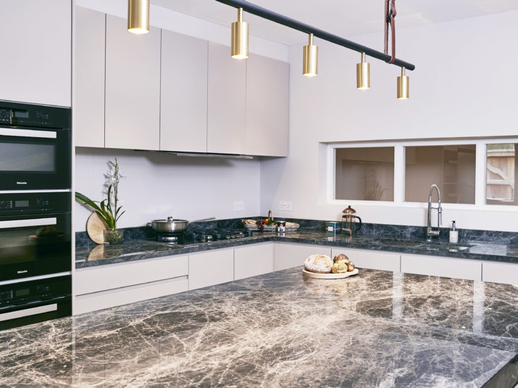 Savana grey marble pantry kitchen