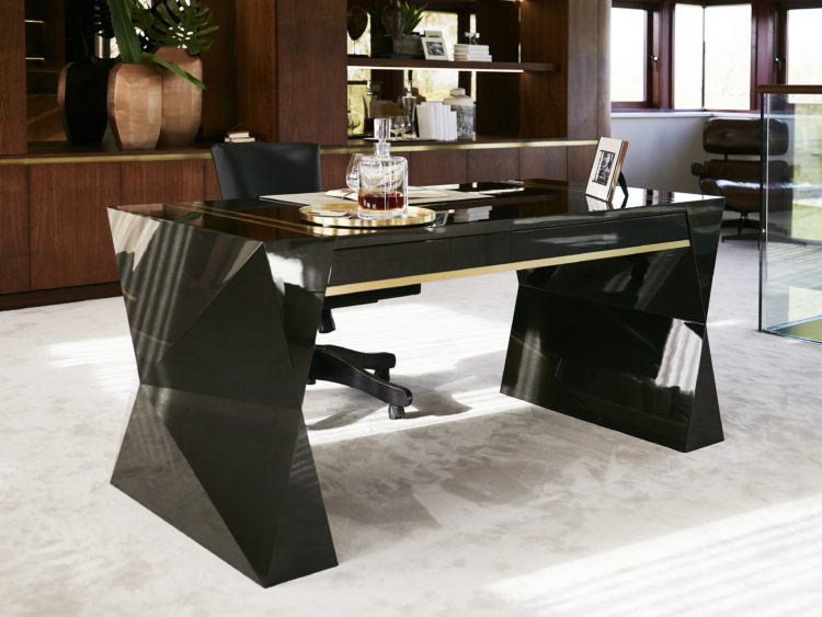 bespoke black gun metal desk