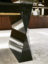 Geometric lacquered leg detail