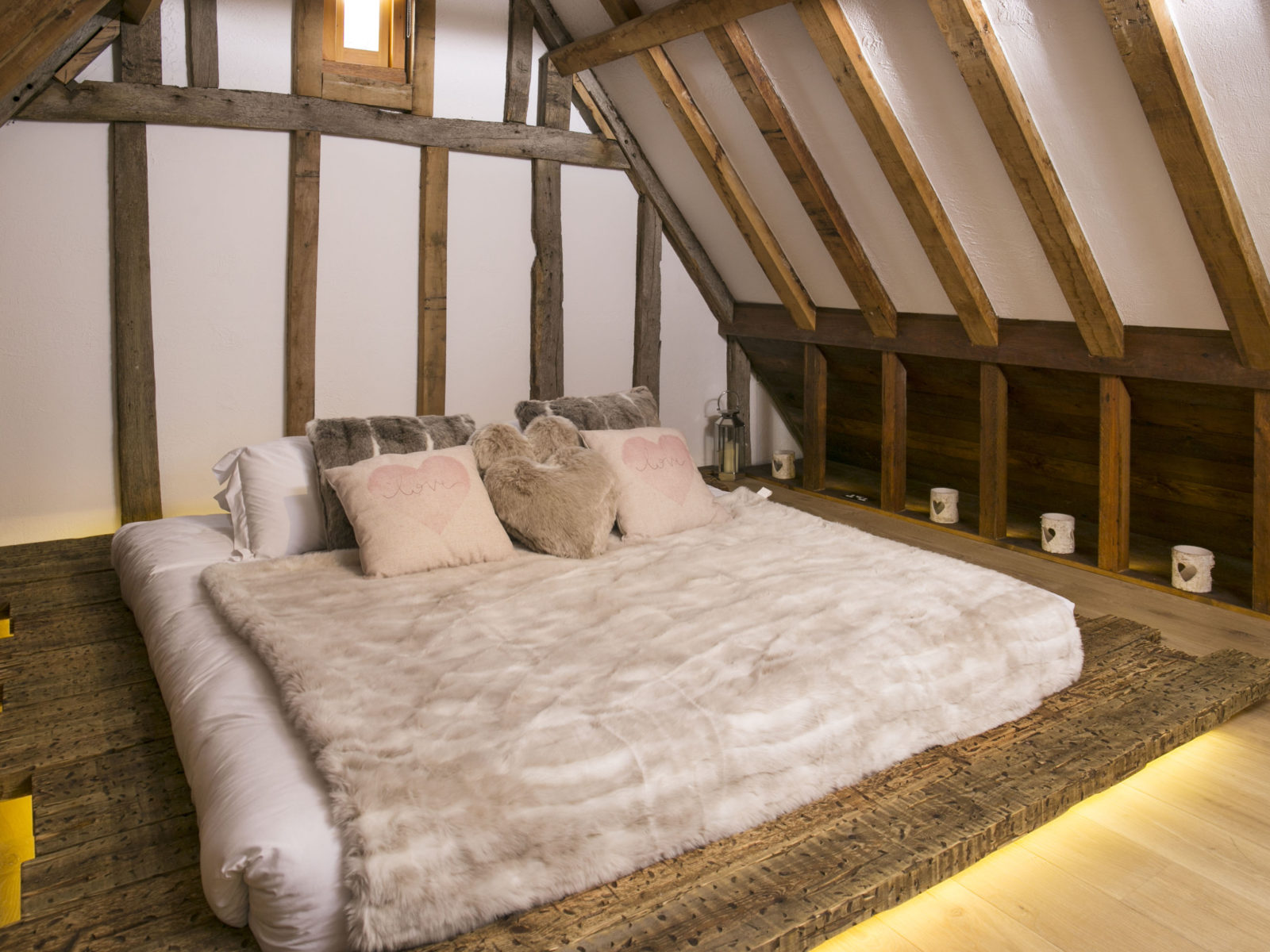 Burry Lodge hotel honeymoon bespoke bed