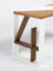 Solid oak number 4 desk leg with white lacquered frame