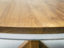 End grain solid teak round dining table top