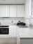 Quartz kitchen worktop, white kitchen