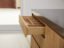 Handless solid oak drawer with internal partition