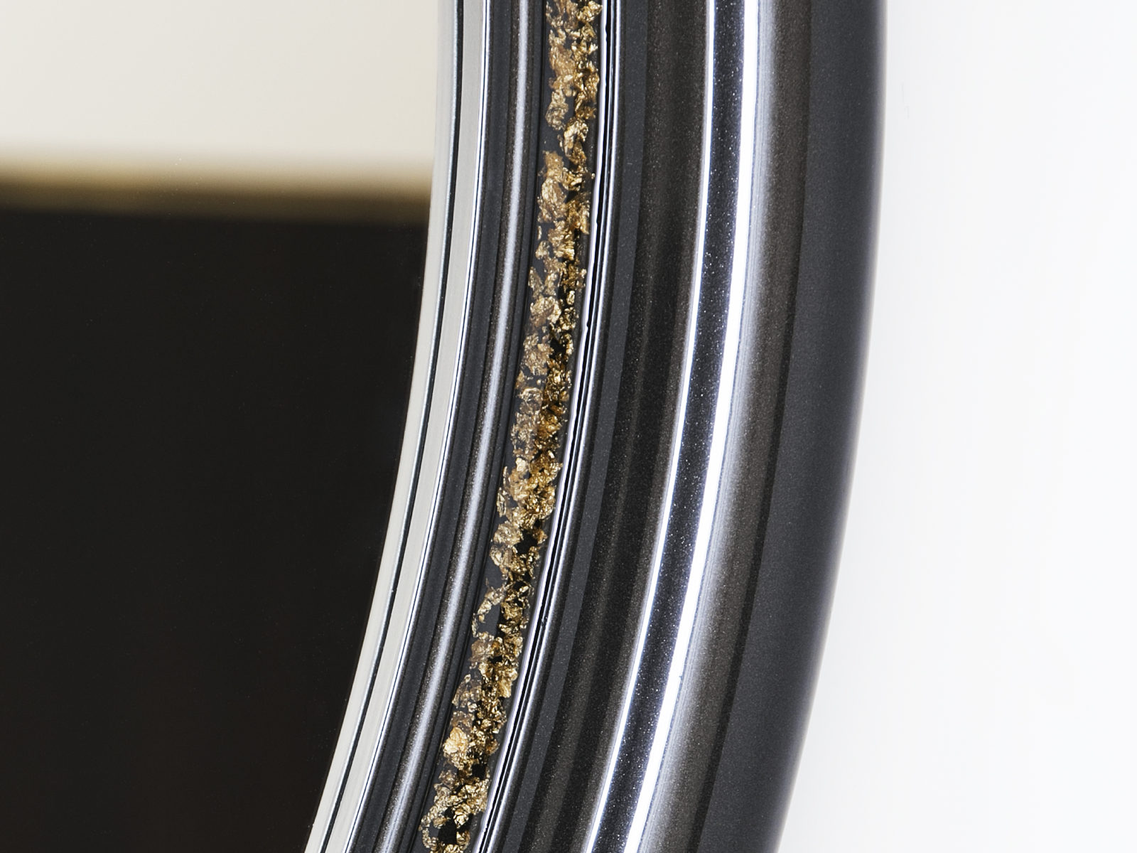 Gold leaf mirror frame detail
