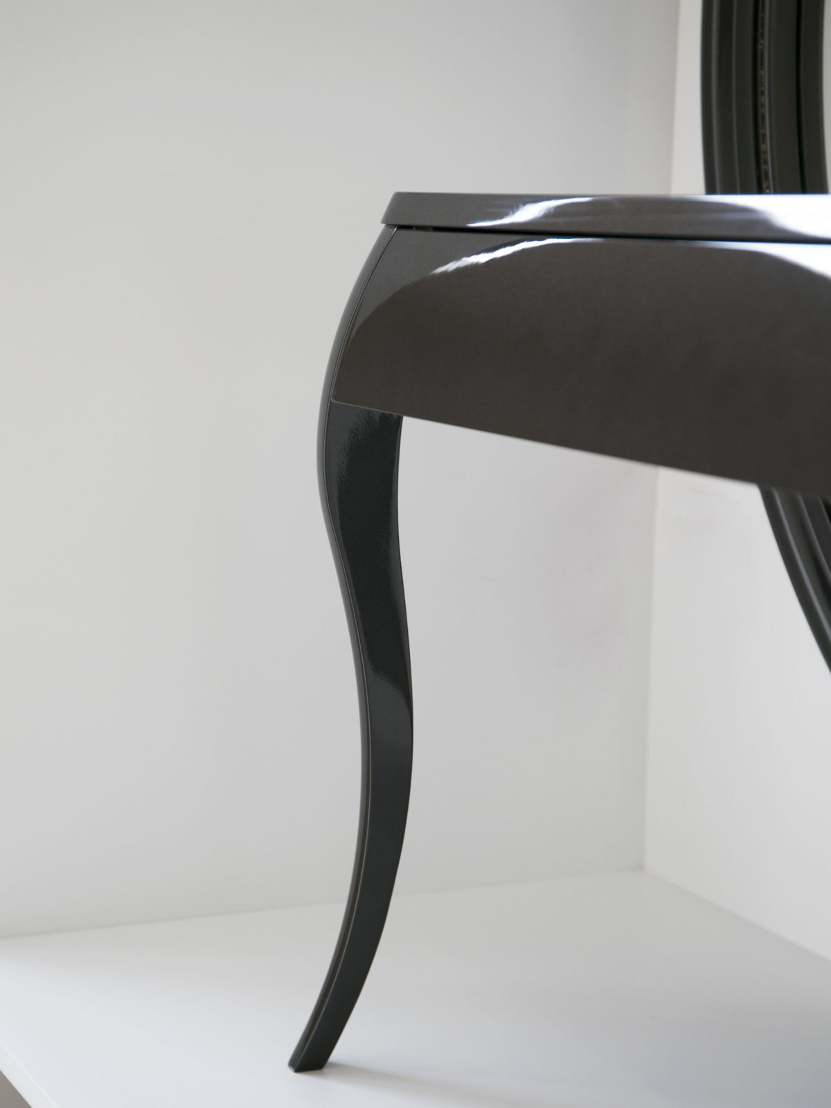 Gun metal lacquered CNC carved legs