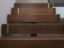 satin brass inlay on solid walnut step riser