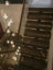 Solid walnut staircase with Bocci feature lights